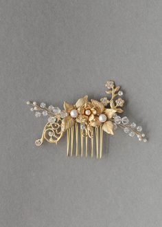 AUDREY floral wedding hair comb | TANIA MARAS