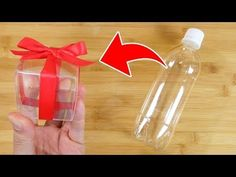 ペットボトルで透明のギフトボックスを作る方法【字幕付き】ちょっとしたプレゼントに使えそうな便利ライフハック - YouTube