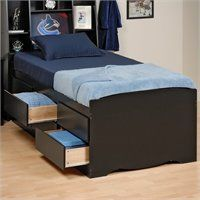 Summit Black Full Roomsaver Bed W 4 Drawer Storage Unit Liked On Polyvore Featuring Home Furniture Shelves Onyx