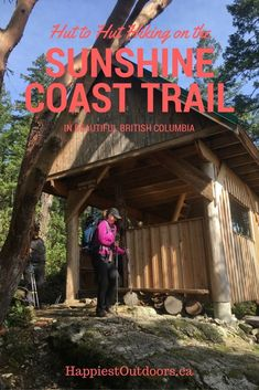 Hut to hut hiking on the Sunshine Coast Trail in beautiful British Columbia, Canada Hiking Tips, Hiking Gear, Camping Tips, Backpacking Trails, Hiking Pants, Family Camping, Columbia Outdoor, Powell River, West Coast Trail
