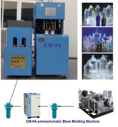 CM-9A Stretch blow-molding machine is an economical machine for blowing various PET bottles of max. Volume up to 5L. It is used to PET bottles and containers from 50ml to 5L with different shape and neck diameter Specifications: Bottle volume: 0.1L to 5L  Max. Production capacity: 300 to 750 bph   For more details,  please visit our website: http://www.kintls.com  Contact: Oscar Huang Kingtop International Group Ltd., http://www.kintls.com