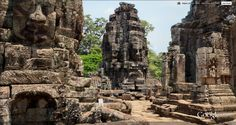 Bayon: Ankor Thom, Cambodia   (It was great to re-visit from inside a 360 pic on Google Earth.  There is an excellent model of the amazing feat of architecture as well.)