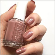 "Essie ""Clothing Optional"" from the Wild Nudes Collection 2017 - muted brown-ish tearose #nail polish / lacquer / vernis
