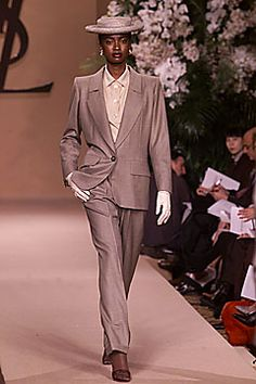 Photo: JB Villareal/Shoot Digital for STYLE.com  print email  look 2  Spring 2001 Couture  Saint Laurent