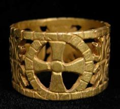 Byzantine Style Gold Ring - OS.348 For Sale | Antiques.com | Classifieds
