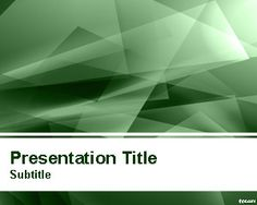 Abstract Green Lights PowerPoint Template | Free Powerpoint Templates