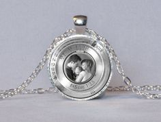 PERSONALIZED PORTRAIT PHOTOGRAPHER Pendant Your Photo in Middle Vintage Camera Lens Photographer Gift for Photographer Not an Actual Lens