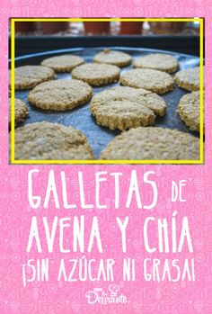 Oatmeal and chia cookies without sugar or fat (super nutritious) # sugar # chia <-> Real Food Recipes, Baking Recipes, Yummy Food, Nutella French Toast, Pastry And Bakery, Muffins, Sugar Free Desserts, Healthy Sweets, Easy Snacks