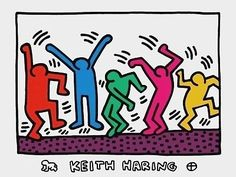 KEITH HARING (1958-1989) A leading Neo-Pop artist, was one of the most articulate members of his generation. He captivated the imaginations of New York City commuters with his subway wall drawings in