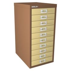 10 Drawer Bisley Multi-Drawer Cabinet - Coffee & Cream