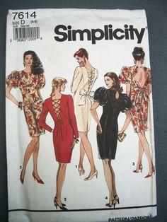 Vtg 1991 Simplicity Fitted Cocktail Pencil Party by TheSewingDen, $6.50