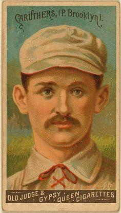 Bob Caruthers, Brooklyn Trolley-Dodgers, baseball card portrait