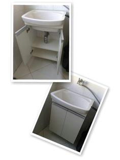 Gabinete para tanque de lavanderia.