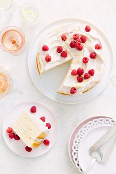 Recipe: Easy Lemon Cake with Whipped Raspberry Frosting | Kitchn
