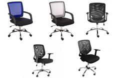 A variety of bargain mesh office chairs - all under £100.00