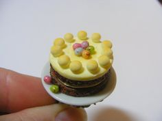 Simnel Easter Cake Miniature Food Ring - Miniature Food Jewelry,Handmade Jewelry Ring,Mini Food Jewelry,Doll house Food,Miniature Cake Ring