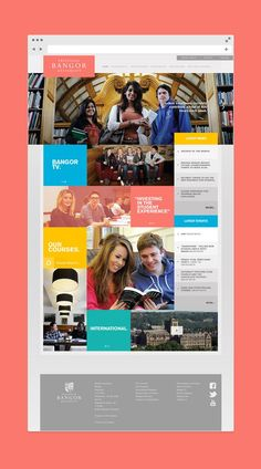 This is our daily Website design inspiration article for our loyal readers. Every day we are showcasing a website design ideas whether live on app stores or only designed as concept. Web University, Bangor University, University Website, Web Design Agency, Web Design Services, Branding Services, Ios Design, Dashboard Design, Interface Design