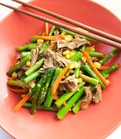 Maitake Mushroom & Asparagus Stir Fry #recipe