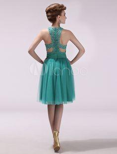 Vestido verde azul marino