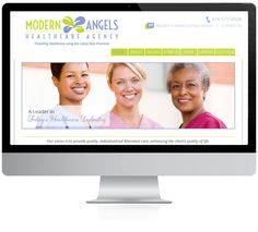 Modern Angels   Modern Angels came to Insiteful Solutions as a business startup in the Healthcare industry. We designed a logo to be used in all there branding and advertising for both online and offline.  Using the logo we custom designed them a website which was integrated into Word Press for easy updating. http://modernangels.ca/