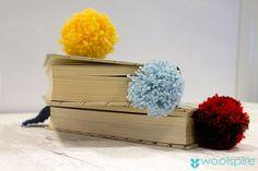 strikket bogmærke fra woolspire