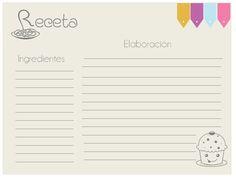 Proyecto Pastelito: imprimibles para recetas