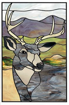 Mule Deer - Stained glass