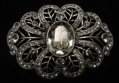 """Signed LaVintage 2-1/2"""" Silver Tone Prong Set Rhinestone Statement Brooch A13 #Jewelry #Deal #Fashion"""