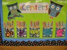 centers... I could do something like this instead of my big pocket chart.