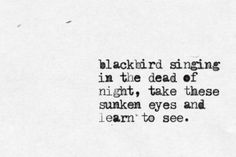 blackbird ~ the beatles