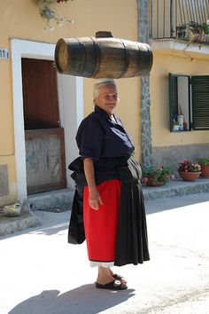 Nonna in  Calabria  ~ wonder if that hurts her head?