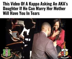 b49360d5a This Video Of A Brother of Kappa Alpha Psi Asking An Alpha Kappa Alpha  Member s Daughter If He Can Marry Her Mother Will Have You In Tears