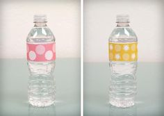 A fun thing to do with water bottles. Minus the pink.