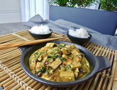 Vegetariánské kari s hlívou – Snědeno. Tempeh, Thai Red Curry, Food Porn, Vegetarian, Vegan, Chicken, Ethnic Recipes, Fitness, Vegans