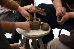 Koki Tanaka, A pottery produced by 5 potters at once (silent attempt), 2013. HD video and potteries, 75 minutes, courtesy of the artist
