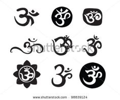 aum tattoo designs | Om Aum Symbol Stock Vector 98839124 : Shutterstock
