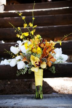 Yellow & orange bouquet (photo: Two One Photography)