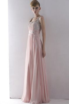 Beaded Backless Halter Party Ball Prom Gown Evening Dress