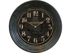 """Hotel Pasquier Black 15"""" Available at Clocks Around The World"""