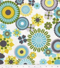 45'' Home Essentials Print Fabric- Hipster Aquamarine, , hi-res