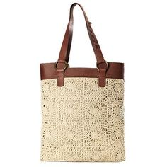 crochet bag - I like the top on this one
