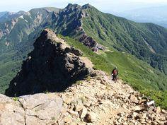 赤岳から横岳|八ヶ岳登山ルートガイド。Japan Alps mountain climbing route guide