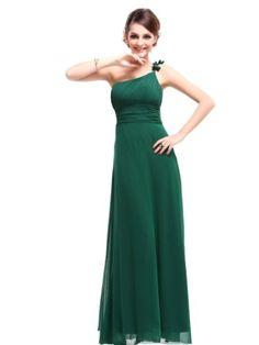 Ever Pretty Flower Ruffles One Shoulder Empire Line Formal Dress 09596 $69.99