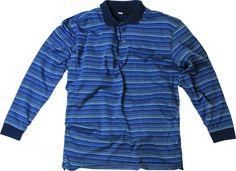 [img-10126-left-thickbox_default]  Polo allsize fashion composé de 60 % Coton 40 % Polyester   Polo Fines rayures avzec un tissu en coton côtelé    Col trois Boutons  Manches longues  Coloris Bleu  Finition bord côtes sur les brassards   Allsize vous propose ce Polo grande taille pour homme dans les tailles L au 8 XL