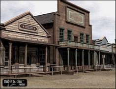 Old West Sheriffs Office in Places and Things, Structures, Cityscapes and Buildings, Historical, Models by Daz Western Saloon, Western Film, Western Theme, Western Decor, Western Style, Western Art, Old West Town, Old Town, Cowboy Town