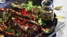 Yunnan barbecue spare ribs with black vinegar sauce - The Rockpool Files Pork Spare Ribs, Bbq Ribs, Barbecue, Pork Recipes, Asian Recipes, Cooking Recipes, Healthy Recipes, Asian Pork, Australian Food