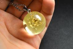 SALE 50% Jasmine Necklace Jasmine Jewelry Real Jasmine Dried flower Terrarium pendant Eco Gift Real Flowers jewelry Christmas gift by VITALIAart on Etsy