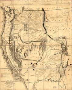Map of Oregon and Upper California: 1848. From the Surveys of John C. Fremont.