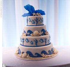 Aquarium wedding cake. TheKnot.com