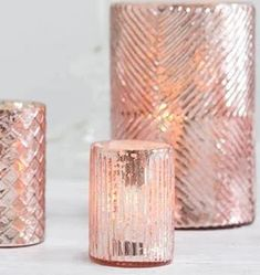 Mercury Glass Romance Votive in Blush - Mercury glass floral vase and faux flowers to decorate y Pink Candle Holders, Pillar Candle Holders, Votive Candles, Candels, Pink Candles, Tea Light Candles, Eiffel Tower Vases, Floral Foam, Floral Supplies
